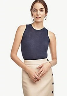 Ann Taylor Ribbed Linen Shell