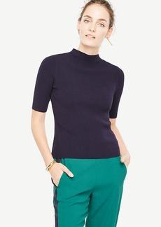 Ribbed Mock Neck Sweater