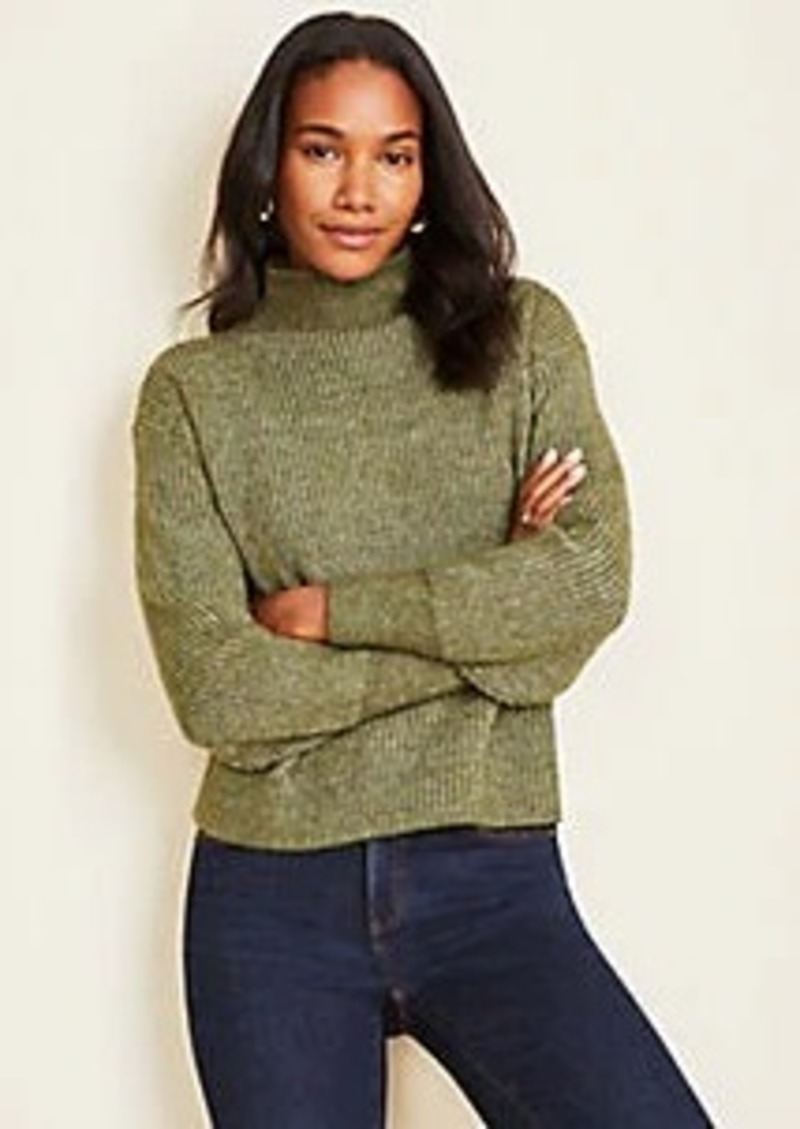 Ann Taylor Ribbed Mock Neck Sweater
