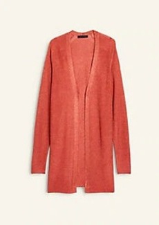 Ann Taylor Shimmer Ribbed Open Cardigan
