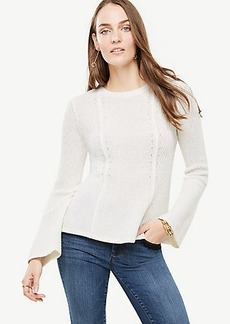 Ribbed Peplum Sweater
