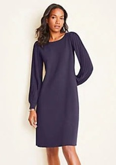 Ann Taylor Ribbed Sleeve Sweater Dress