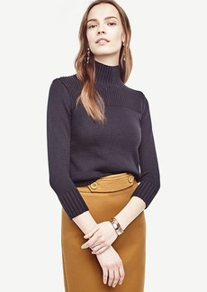 Ann Taylor Ribbed Trim Sweater