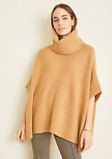 Ann Taylor Ribbed Turtleneck Poncho