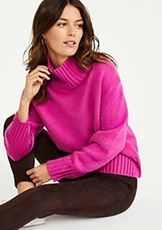Ann Taylor Ribbed Turtleneck Sweater