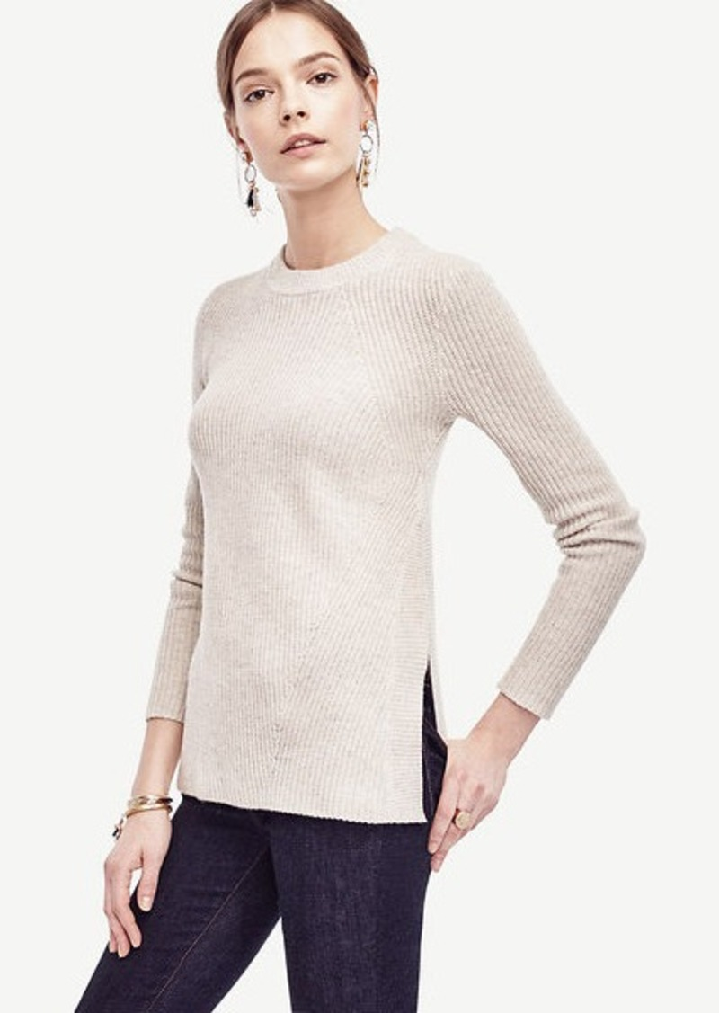 Ann Taylor Ribbed Wool Cashmere Tunic Sweater | Sweaters - Shop It ...