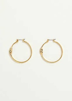 Ann Taylor Ribbon Hoop Earrings