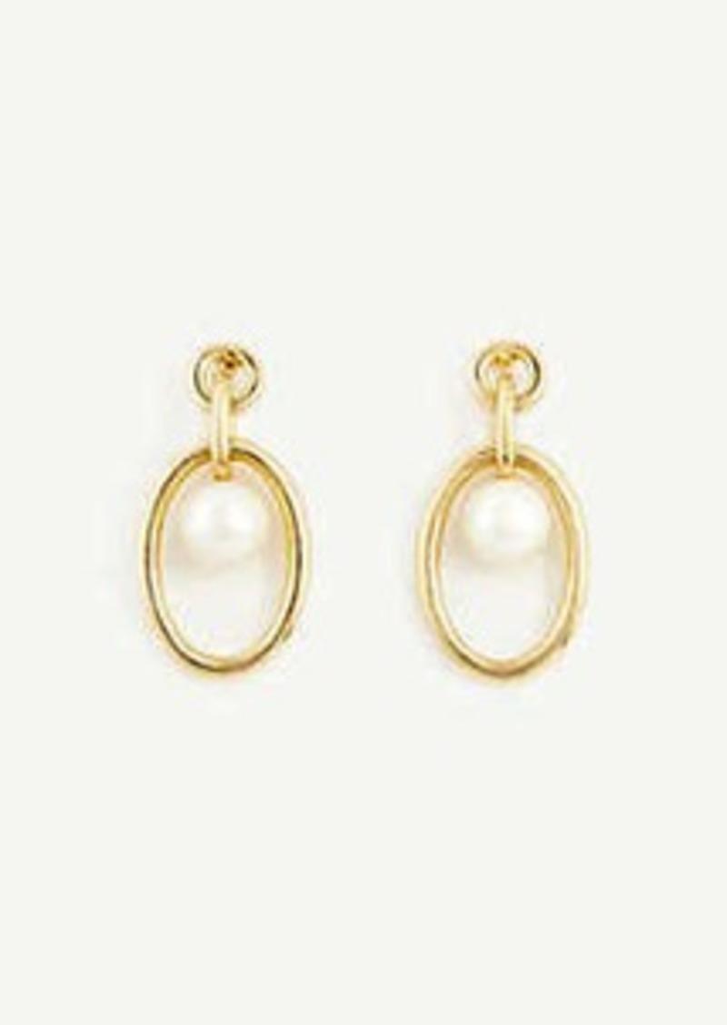 Ann Taylor Ring Pearlized Drop Earrings
