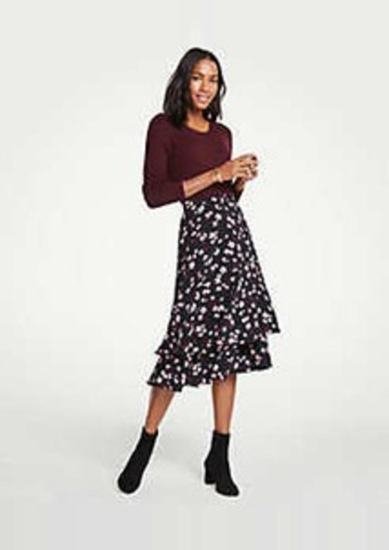 Ann Taylor Romantic Flower Flounce Skirt