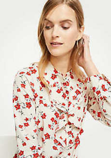 Ann Taylor Romantic Flower Ruffle Blouse