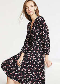 Ann Taylor Romantic Flower Wrap Dress