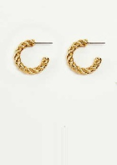 Ann Taylor Rope Metal Hoop Earrings