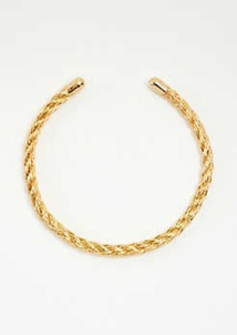Ann Taylor Rope Textured Metal Collar