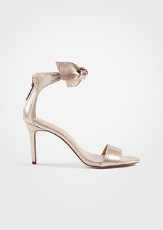 Ann Taylor Rosalyn Metallic Leather Leaf Heeled Sandals