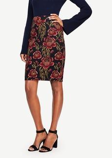Ann Taylor Rose Garden Pencil Skirt