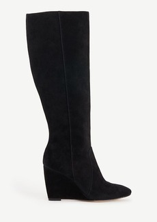 Ann Taylor Rosemary Suede Wedge Boots