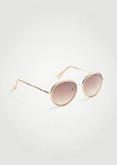 Ann Taylor Round Aviator Sunglasses