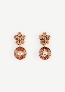 Ann Taylor Round Crystal Drop Earrings