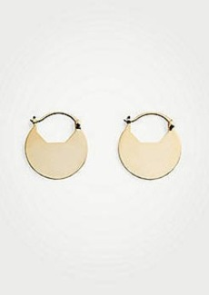 Ann Taylor Round Drop Hoop Earrings