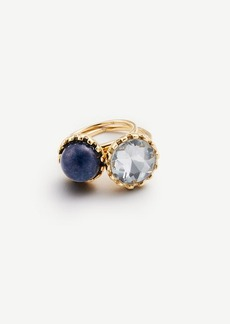 Ann Taylor Round Stone Stackable Ring Set