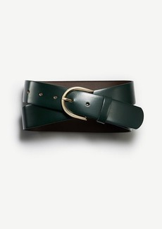 Ann Taylor Rounded Buckle Leather Belt