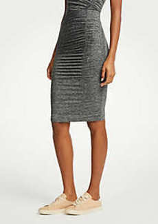 Ann Taylor Ruched Knit Pencil Skirt