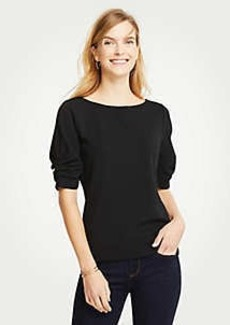 Ann Taylor Ruched Short Sleeve Top