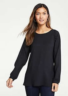Ann Taylor Ruched Shoulder Blouse