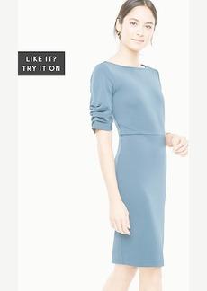 Ruched Sleeve Sheath Dress