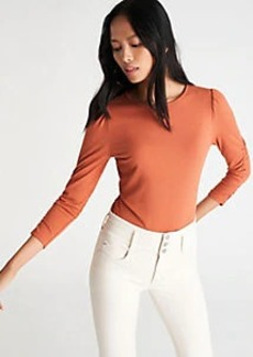 Ann Taylor Ruched Sleeve Top