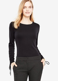 Ruched Tie Sleeve Top