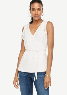 Ruffle Belted Wrap Top