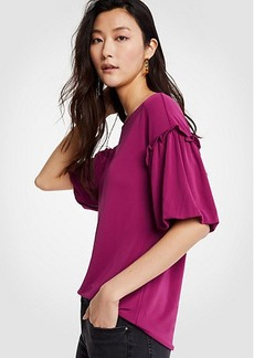 Ruffle Bubble Sleeve Top