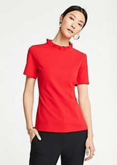 Ann Taylor Ruffle Collar Top