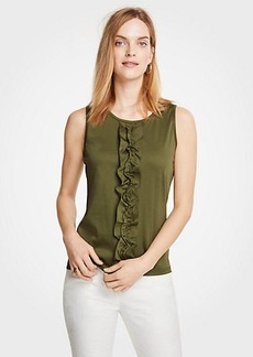 Ann Taylor Ruffle Front Shell