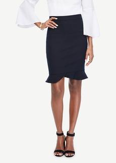 Ann Taylor Ruffle Hem Pencil Skirt