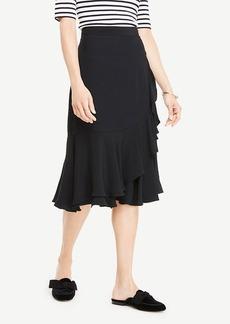 Ann Taylor Ruffle Midi Skirt