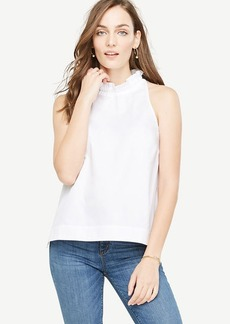 Ruffle Neck Bow Back Tank