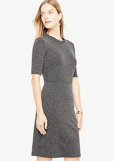 Ruffle Neck Sheath Dress