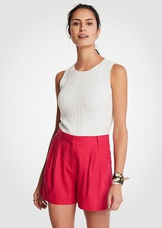 Ann Taylor Ruffle Pocket Pleated Shorts