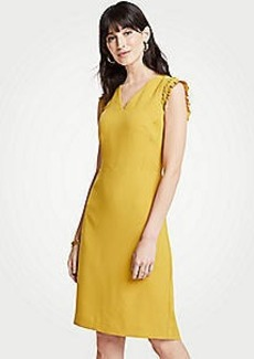 Ann Taylor Ruffle Sheath Dress