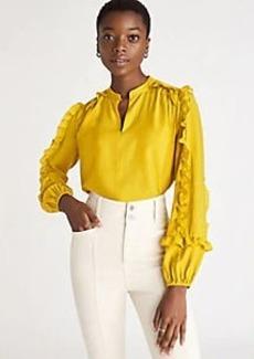 Ann Taylor Ruffle Sleeve Blouse