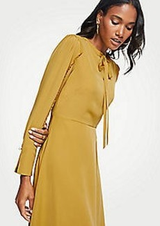 Ann Taylor Ruffle Sleeve Flare Dress