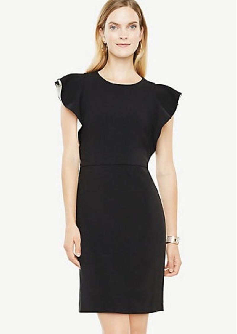 f8cf736af05 Ann Taylor Ruffle Sleeve Sheath Dress