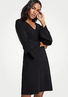 Ann Taylor Ruffle Sleeve Sweater Dress