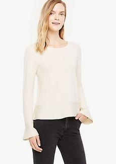 Ruffle Trim Peplum Sweater