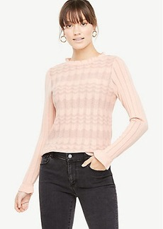 Ann Taylor Ruffle Trim Sweater