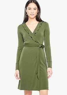 Ann Taylor Ruffle Trim Wrap Dress