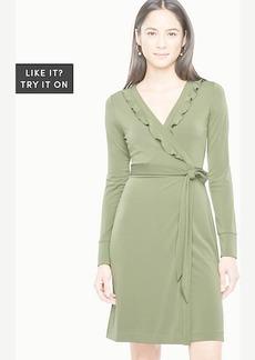 Ruffle Trim Wrap Dress