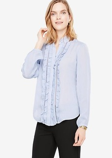Ruffled Button Down Blouse